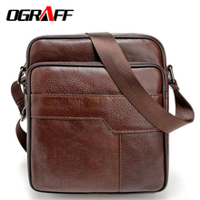 OGRAFF Men messenger bags genuine leather bag casual small business vintage luxury handbag designer shoulder crossbody bag men