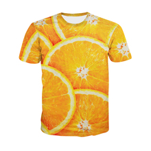 2017 High quality Cool Men Women hot 3d t shirt Print Orange fresh meteor Short Sleeve Summer fashion top Tees free shipping(China)
