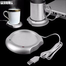 PREUP 2017 new arrival sale stock USB Insulation Coaster Heater Heat Insulation electric multifunction Coffee Cup Mug Mat Pad(China)
