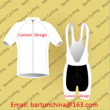 Custom Design Summer Cycling Short Sleeve Jersey Bib Shorts Bike Racing Team Road Biker Cycling Sports Padded Suit Set S001
