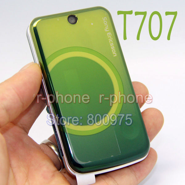 Original Refurbished Sony Ericsson T707 Mobile Phone Unlocked Flip 3G Smartphone T707 Green & Gift One year warranty(China (Mainland))