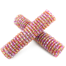 5 CM Colorful  Elastic Rubber Telephone Wire Hair Bands Ponytail Holder Hair Accessories Headband Wholesale  100 Pcs