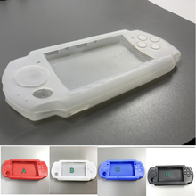 4 color Soft Silicone Rubber Skin Case Cover for PSP 2000 3000 Game Controllers Soft Gel Protective Case Cover