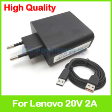 20V 2A 5.2V 2A USB AC Power Adapter for Lenovo Yoga 3-1470 only Core i3 tablet pc charger ADL40WDH ADL40WDJ 36200579 EU Plug(China)