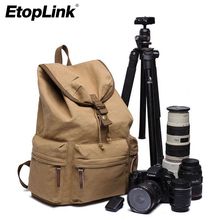 Waterproof Canvas DSLR SLR Camera Backpack Rucksack Bag Shockproof Photography Shoulder Case for Nikon Digital Camera Video(China)