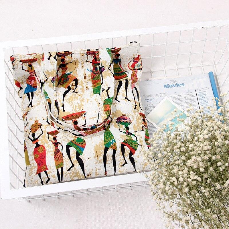 TANGIMP Bohemia India Women Canvas DIY Crafts Carry-All Tote Bag Lunch &amp; Grocer Cotton Handbag Ethnic Shoulder Bag 33x38cm<br><br>Aliexpress