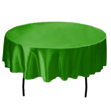 145cm Round handmade Satin Table Cloth Covers Tablecloth For Home Wedding tables restaurant Party Christmas Decoration green