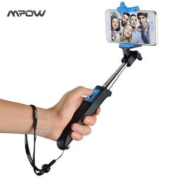 2016 Mpow iSnap Y d'une Seule pièce Portable Petit Trépied Manfrotto Selfie Bâton Bluetooth Déclencheur À Distance pour iPhone 6 s Android Xiaomi