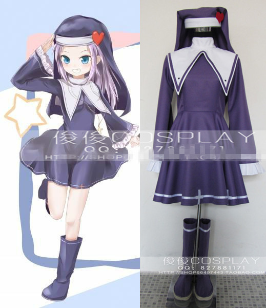 Hot Anime Haganai Boku wa Tomodachi ga Sukunai Maria Takayama Lolita nun Dress Cosplay Costume Any Size
