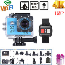"Andoer 2"" LCD Screen Mini Camcorders 4K Wifi Sports Action Camera 4X Zoom Wide-angle 1080P 16MP Waterproof Car DVR Camcorder(China)"