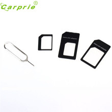 Levert Dropship Retail Version Best Quality With Pin Convert Nano SIM Card to Micro Standard Adapter For iPhone and for Samsung(China)