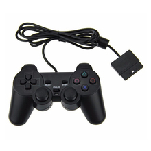 Wired For PS2 Controller Dual Vibration Joystick Gamepad Joypad For PS2 Playstation 2 Black