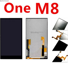Original Black For HTC one M8 LCD m8d m8t m8w lcd screen touch screen assembly display touch screen with digitizer Assembly