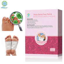 KONGDY Foot Care Rose Essential Oil Bamboo Vinegar Detox Foot Patch 10 Pieces/Box Improve Sleep Quality Beauty Slimming Pads(China)