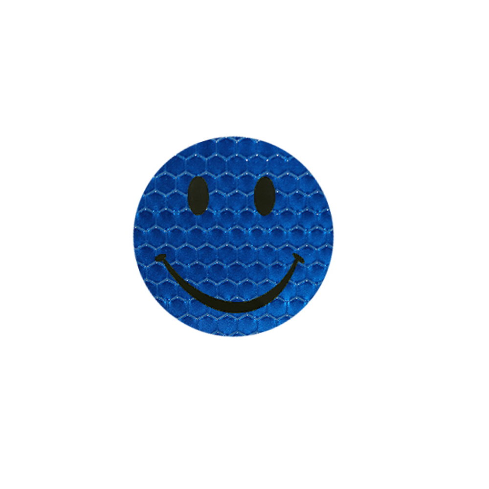 Blue colors car smile sticker reflective