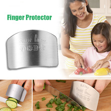 New Kitchen Portable Stainless Steel Hand Guard Finger Protector Knife Slice Chop Safe Slice Kitchen Tool #55301(China)