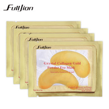 5pairs Natural Crystal Collagen Gold Powder Eye Mask Anti-Aging Eliminates Dark Circles And Fine Lines Face Care Skin Care