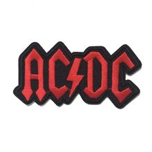 ACDC AC/DC Music Band Logo patch Rock Heavy Metal Punk Music Band Logo Patch Sew Iron on Embroidered Badge Sign Costume Gift(China)