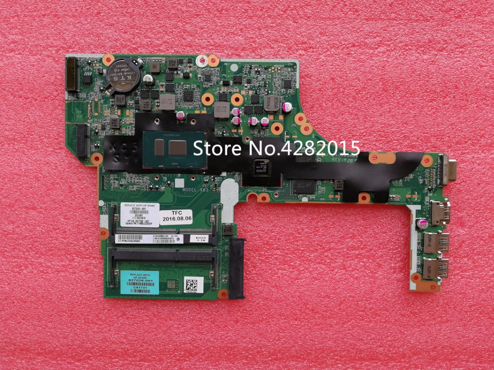 827026-501 827026-001 Free Shipping for HP 827026-601 Motherboard 450 G3 470 G3 Laptop Motherboard I7-6500U 100% Tested OK