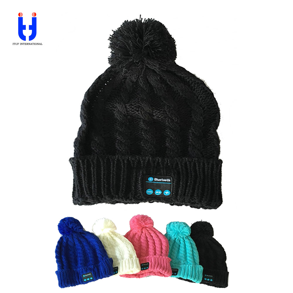 Bluetooth Music Hats Soft Warm Beanie Cap with Stereo Headphone Headset Speaker Wireless Microphone gifts for Valentines MZ017<br>