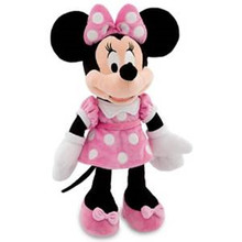 Original Minnie Mouse Plush Toy Pink Stuffed Animals 48cm 19'' Cute Mickey Girlfriend Baby Girls Toys for Children Kids Gifts