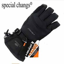 New brand men's ski gloves Snowboard gloves Snowmobile Motorcycle Riding winter gloves Windproof Waterproof unisex snow gloves(China)