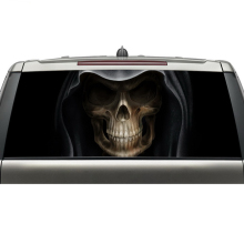 shenzhen aliexpress best selling products custom car rear windshield decals skull head graphic vinyl stickers with free shipping