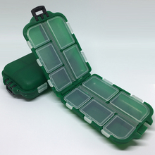 Portable Fishing Tackle Box 10 Compartments Storage waterproof Fly Lure baits Accessories Hooks Deposit Storage Case BOX pesca