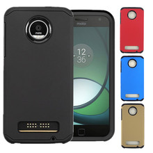 For Motorola Moto Z Play Case Hybrid Shockproof Armor Matte Kickstand Rugged Hard Case Cover Cases Phone Capas Coque Fundas