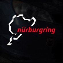 Nurburgring Race Track Touring Map Decal Sticker For Audi BMW Mercedes VW Car Window Bumper Vinyl Decal Stickers 8'' white red
