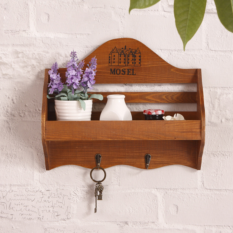 Wall Mounted Holder Storage Racks Wooden Shelf Wall Decoration Hang Miscellaneous Pattern Household Stands and Storage Racks<br>