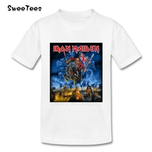 Iron Maiden children's T Shirt Cotton Music Short Sleeve Metal Crew Neck Tshirt Garment boys girls 2018 Popular T-shirt For kids(China)