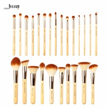 2017 Jessup Brushes 25pcs Beauty Bamboo Professional Makeup Brushes Set Pincel Foundation Powder Blushes Eye Shader T135(China)