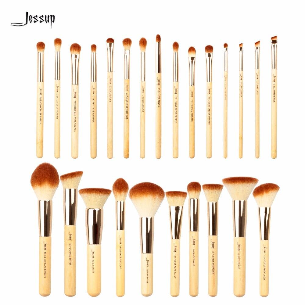 Jessup Brushes 25pcs Beauty Bamboo Professional Makeup Brushes Set Pincel  Foundation Powder Blushes Eye Shader T135<br>