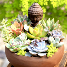 Ceramic Vase for Succulents Flower Box Pot Buddha Statue Wedding Christmas Home Garden Decoration