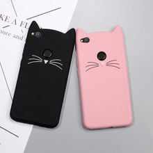 Case for Huawei P8 Lite 2017 Cute 3D Mustache Cat Silicone Cover Accessory for Huawei Nova Lite / Honor 8 Lite /GR3 2017 Capas