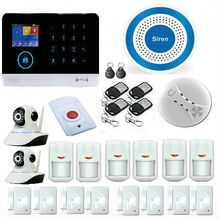 WIFI GSM GPRS RFID 2-In-1 Wireless Home Security Alarm System DIY Kit with Auto Dial Support Android IOS Smart Phone APP Control