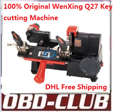 100% Original WenXing Q27 key making machine 120w.Key duplicating machine Key cutting Machine Free DHL shipping