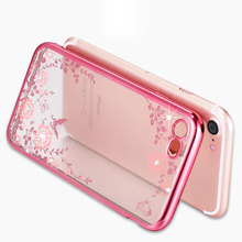 Buy Coque iphone 8 plus Case Silicone Bling Diamond Clear Cover Soft TPU Flower Flora Phone Cases iphone 8 plus 5.5 Case for $2.27 in AliExpress store