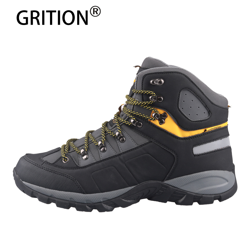 GRITION Men Sneakers Waterproof Hiking Shoes Male Tactical Boots Outdoor Mountain Climbing Anti-skid Hunting Boots Big Size 47 title=