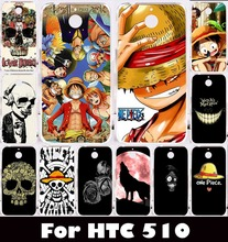 "Hard Plastic Soft TPU Silicon Mobile Phone Case For HTC Desire 510 D510 4.7"" Cover Skull Head Naruto Protective Phone Cover Skin"