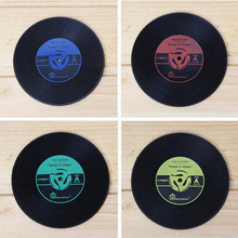 20Pcs/lot Creative Silicone Cup Mat Retro CD Records Coaster Tableware Insulation Pad Non-slip Vinyl Placemat Wholesales
