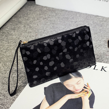 6 Color High quality Bling Stone Pattern Wallet Elegant clutch purse Cell Phone Pocket Coin Purse Pocket Coin Wallet ZLX-001(China)