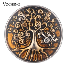20PCS/Lot Wholesale Vocheng Ginger Snap Jewelry Tree of Life Button Charms Painted Design 18mm 4 Colors Vn-1773*20