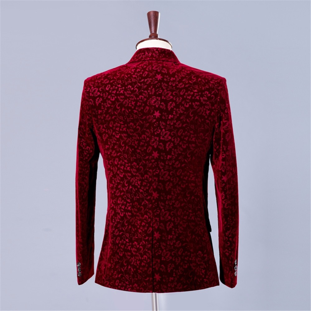 Suit burgundy floral blazer (5)