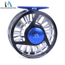 Maximumcatch Five Colors 7/8 WT Fly Fishing Reel Machined Aluminium Micro Adjusting Teflon Disc Drag Fly Reel Fishing Tackle