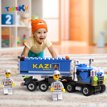 New Arrival 163pcs Transport Dumper Truck Model Building Blocks Can Build 8 Shapes Educational Toys Kids Gifts Wholesale