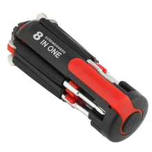 8 in 1 Multi Portable Screwdriver with 6 LED Torch Hand Repair Light Up Multi-functional Flashlight Set