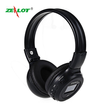 Zealot B570 Wireless Bluetooth Headphone LED Display Screen Bluetooth Earphones with FM Radio TF Card Slot Headset Audifonos