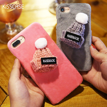 KISSCASE Handmade Plush Hat Case For iPhone 6s 6 7 Case 5 5S SE Cute Knitted Gift Phone Back Cases For iPhone 7 Plus 6 6s Fundas